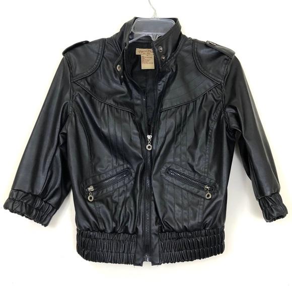 Paris Blues Jackets & Blazers - Paris Blues Half Sleeved Vegan Leather Jacket